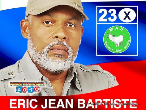 PHOTO: Haiti - Eric Jn Baptiste - Candidat a la Presidence