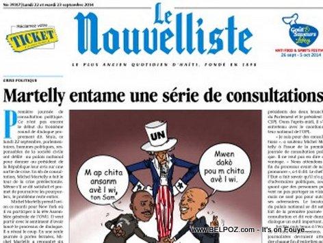 Le Nouvelliste: Martelly entamme in serie de consultation