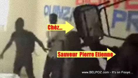 PHOTO: Haiti Elections - Sauveur Pierre Etienne pran Kout Chaise
