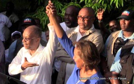 Haiti Elections - President Aristide di Pep la VOTE Maryse Narcisse