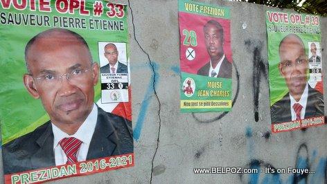 Haiti Elections Posters - Sauveur Pierre Etienne, Moise Jean Charles
