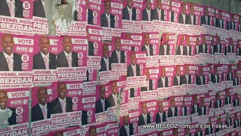 Haiti Elections Posters - Yo voye moun kole photo, ahh yo kole photo pitit LOL...