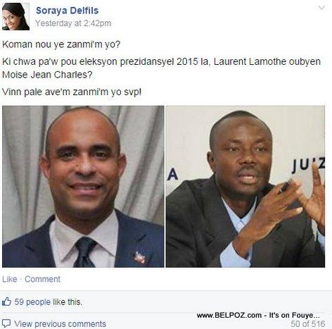 Haitien, Ki chwa pa-w pou eleksyon prezidansyel 2015 la, Laurent Lamothe oubyen Moise Jean Charles?