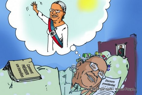 PHOTO: Haiti Caricature - Mirlande Manigat Domi REVE li President de la Republique