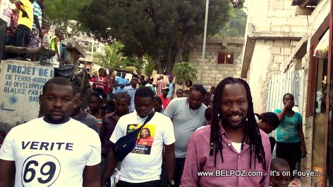 Haiti Elections - Don Kato campaigning in Jalousie (Petionville)