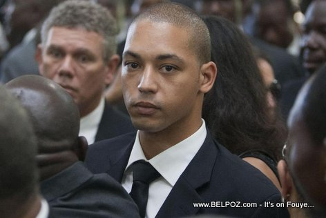 Nicolas Duvalier at the funeral of his father, ex Haiti president Jean-Claude Duvalier