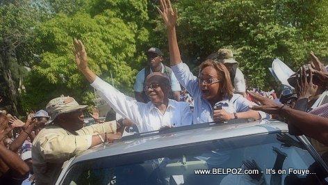 Haiti Elections - Aristide Pran Lari ak Maryse Narcisse Denye Jou Kanpay Electoral la