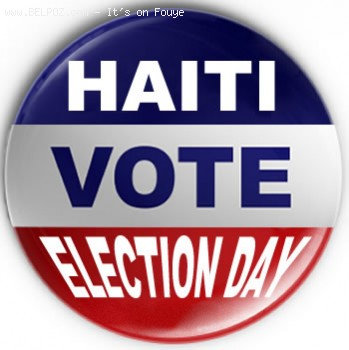Voting Pin - Haiti Election Day