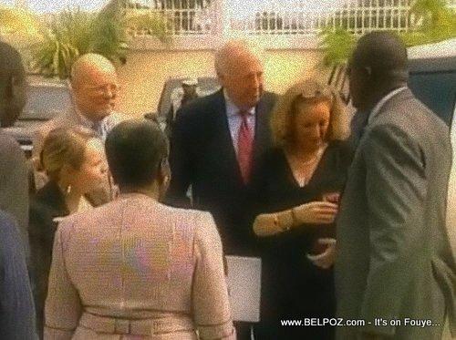 PHOTO: Haiti - Thomas Shannon and Pamela White visit Haiti Senate