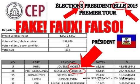 Haiti Elections - FAUX Procès Verbal ki ap Sikile