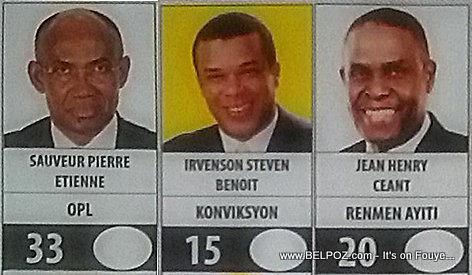 Candidat Sauveur Pierre Etienne, Steven Benoit, Jean-Henry Ceant