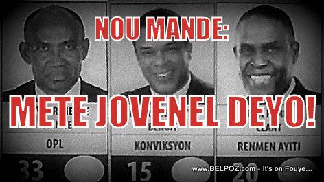 PHOTO: Candidat Sauveur Pierre Etienne, Steven Benoit, Jean-Henry Ceant