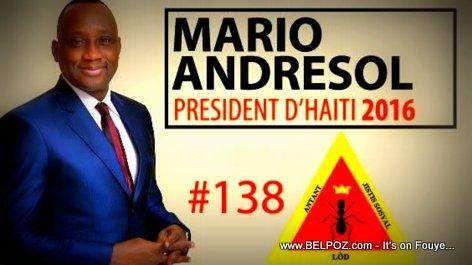 Mario Andesol - Candidat a la Presidence