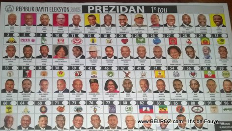 Haiti Election 2015, Presidential Ballot, First Round