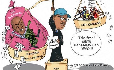 Haiti Caricature - KEP Opont Sou Pression Resulta Election Presidentiel yo