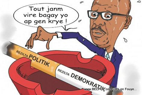 Haiti Caricature - Resulta Elections yo CHOCHO NET nan men KEP Opont