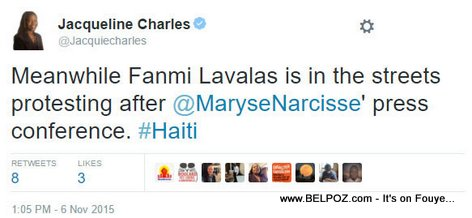 PHOTO: Haiti - Fanmi LAVALAS Hits the Streets, Tweet, Jacqueline Charles
