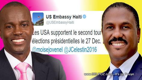 Haiti Candidates Jovenel Moise vs Jude Celestin - USA Tweet