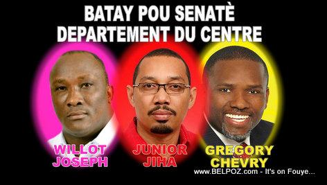 Willot Joseph, Junior Jiha, Gregory Chevry - Candidat Senateur Centre