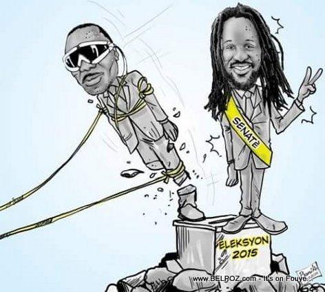 Haiti Election - Statue Joseph Lambert Rache Tonbe , Statue Senatè Don Kato Ranplase li