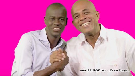 PHOTO: Haiti President Martelly and Candidate Jovenel Moise