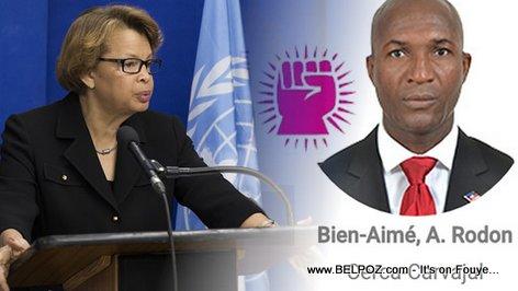Sandra Honore MINUSTAH, Antoine Rodon Bien Aime