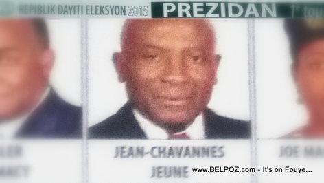 Haiti Elections - Jean-Chavannes Jeune, Candidat a La Presidence