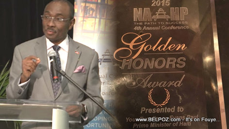Haiti PM Evans Paul Receives NAHP Golden Honors Award