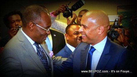 PHOTO: Haiti PM Evans Paul Meets with Former Haiti PM Laurent Lamothe in Miami