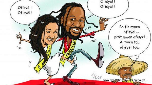 Haiti Caricature - Anne ak Don Kato CHEF Tèt Kale, Ofisyèl Ofisyèl, Tonton BICHA Kontan...