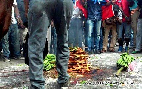 Seremoni Manifestation Opposition an fèt ak BANNANN konye a LOL...