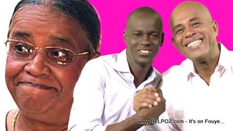 PHOTO: Mirlande Manigat, Jovenel Moise, President Michel Martelly