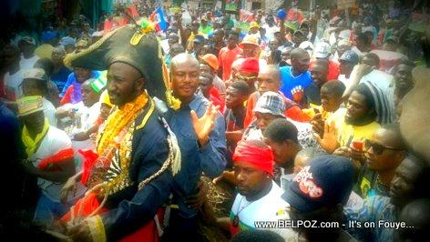 Haiti Manifestation - Pitit Desalin lan chita deye Cheval Dessalin au Cap-Haitien