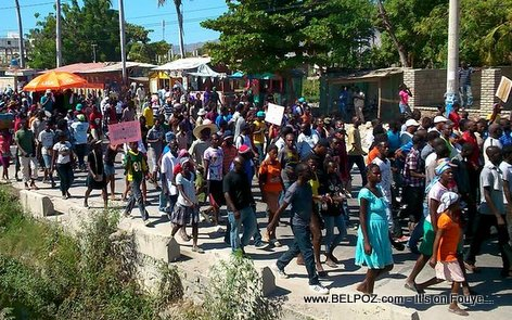 Manifestation Pro-Martelly, Gonaives - 28 Novembre 2014