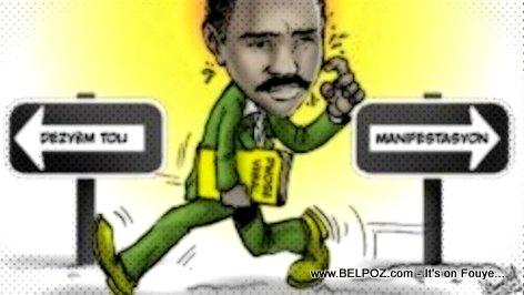 PHOTO: Haiti Caricature - Jude Celestin Confusion Total
