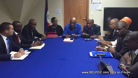 PHOTO: Haiti - Jovenel Moise meets with Electoral Council (CEP)