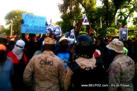 Manifestation Haiti 13 Dec 2014