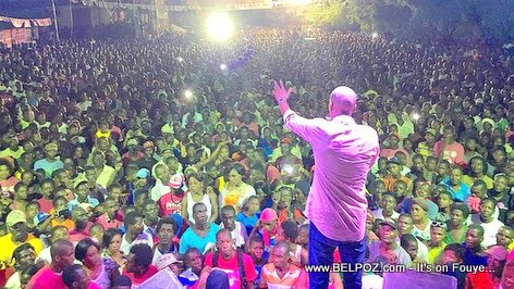 Haiti Elections - Jovenel Moise Campaigning in Jeremie, Round 2, LOTS of People...