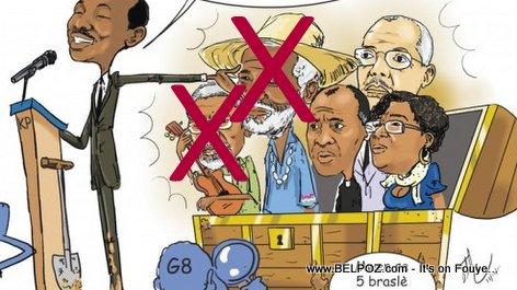 Haiti Caricature - Commission Electoral la, Konpe FIlo ak Manno Charlemagne pa ladan l