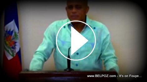 IMAGE - Haiti Video President Martelly Speaking