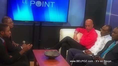 President Martelly On Radio-Tele Metropole Le Point
