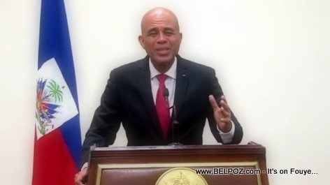 President Martelly Addressing the Nation
