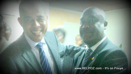 Haiti President Martelly and Senator Evaliere Beauplan