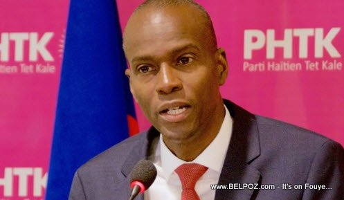 PHOTO: Haiti - Jovenel Moise Speaking