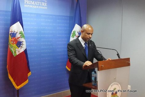Haiti PM Laurent Lamothe during his National Address 13 December 2014