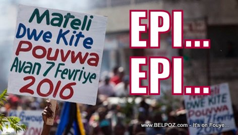 Haiti Manifestation - Martelly Dwe Kite Pouvwa Avan 7 Fevrier