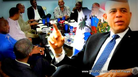 Haiti President Martelly and G8 Opposition Candidates