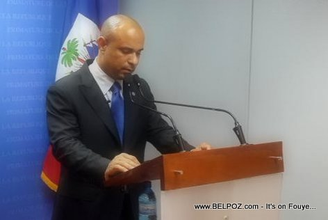 Laurent Lamothe giving his resignation speech, 13 December 2014