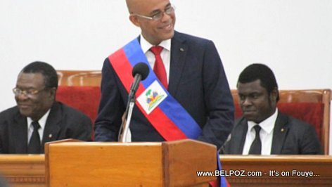 Michel Martelly giving his LAST speech as President