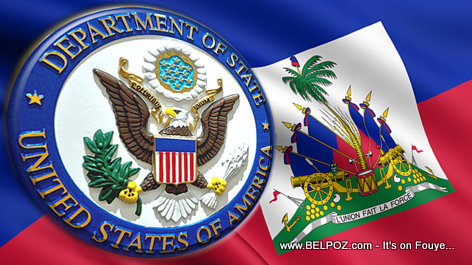 U.S. Department of State Seal on the Haitian Flag